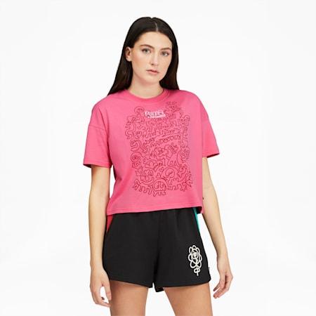Camiseta holgada PUMA x MR. DOODLEpara mujer, Bubblegum, pequeño