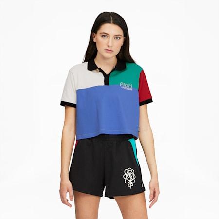 Camiseta tipo polo PUMA x MR. DOODLEpara mujer, Eggnog, pequeño