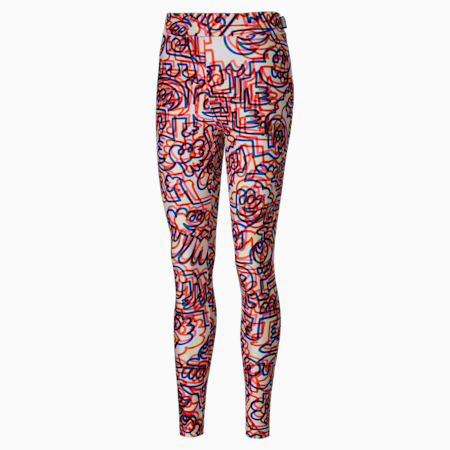 PUMA x MR DOODLE Printed Women's Leggings, Puma White-AOP, small-GBR