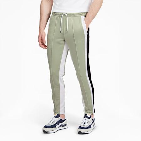 Pantalon de basketball Trackstar, homme, Sauge désertique-Noir Puma, petit