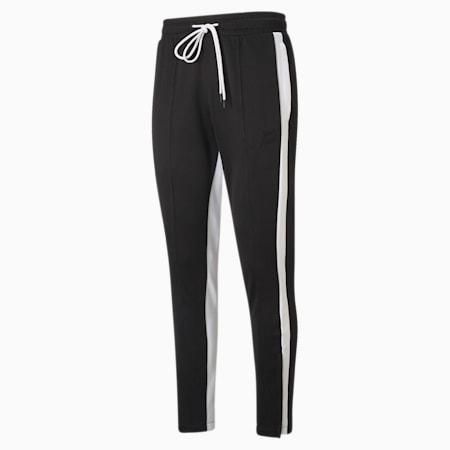 Pantalon de basketball Trackstar, homme, noir PUMA-blanc PUMA, petit