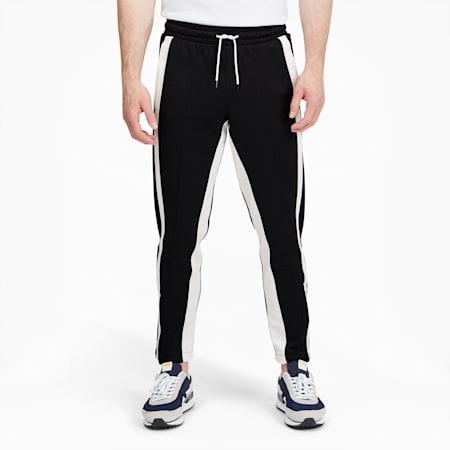 Pantalones para básquetbol Trackstarpara hombre, Puma Black-Puma White, pequeño