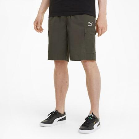 Shorts cargo Classics para hombre, Forest Night, small