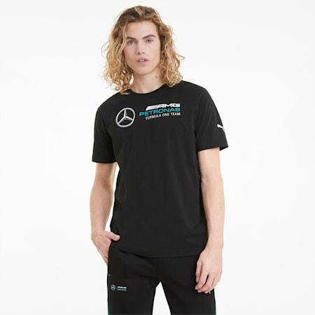 Mercedes F1 Logo Men's Tee, Puma Black, small