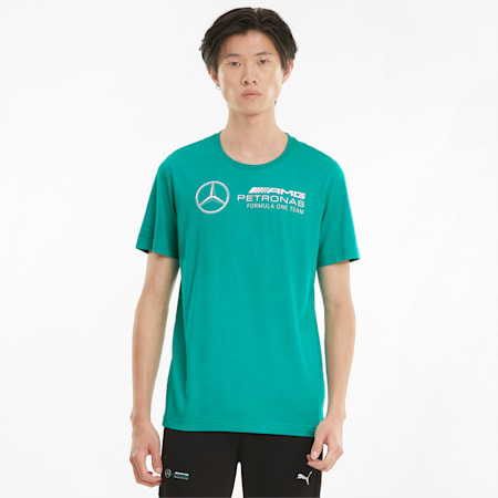 Mercedes F1 Logo Men's Tee, Spectra Green, small