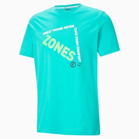 T-shirt Hoops, homme, Vert piscine Elektro, petit