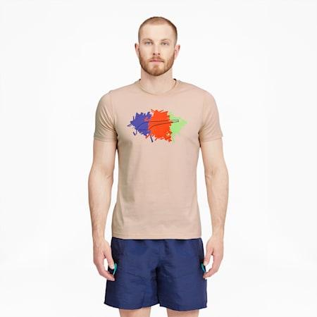 T-shirt Hoops, homme, Sable mouvant, petit