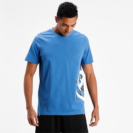 Camiseta de básquetbol Franchise Side Seampara hombre, Star Sapphire, pequeño