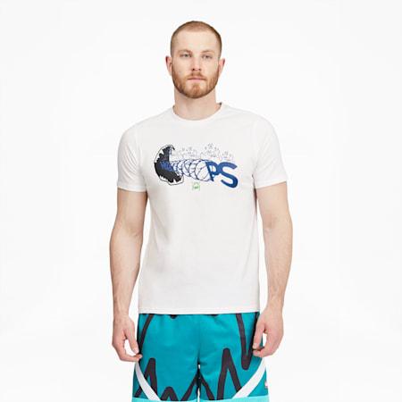 Camiseta de básquetbol Q2 FRAN de manga corta para hombre, Puma White, pequeño