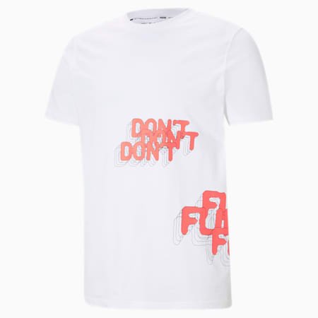 Don't Flinch Men's Basketball Tee, Puma White, small