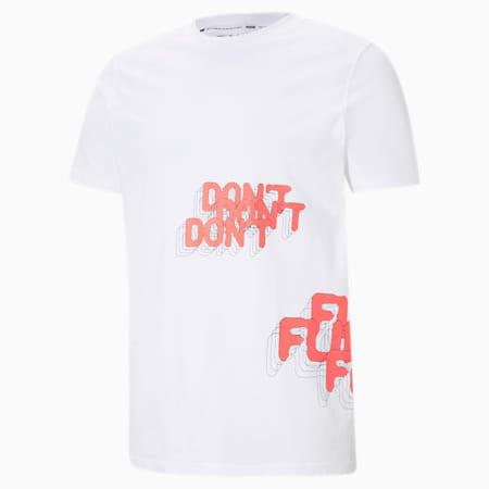 T-shirt de basketball Don't Flinch, homme, Blanc Puma, petit