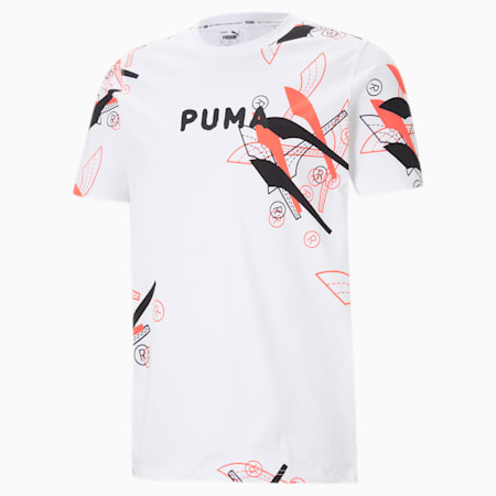 Formstrip Men's Basketball Tee, Puma White, small