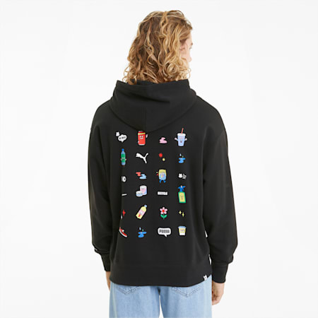 Downtown Men's Graphic Hoodie, Puma Black, small