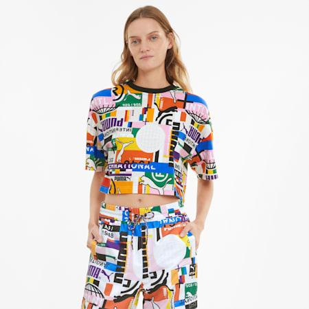 T-shirt stampata PUMA International donna, Puma White, small