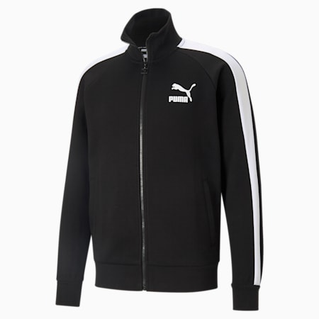 Iconic T7 Double Knit Men's Track Jacket, Puma Black, small-IND