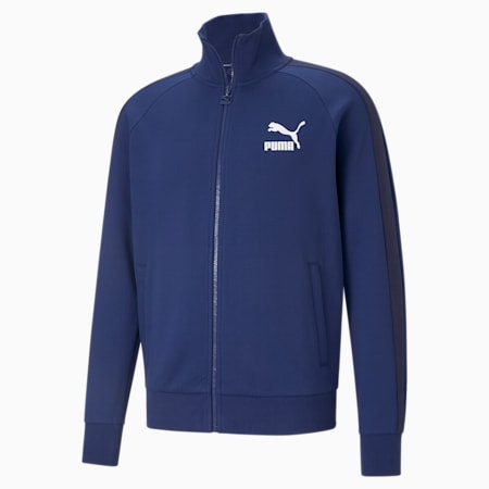 Iconic T7 Double Knit Men's Track Jacket, Elektro Blue, small-IND