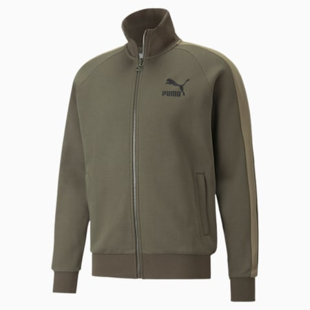 Iconic T7 Double Knit Men's Track Jacket, Grape Leaf, small