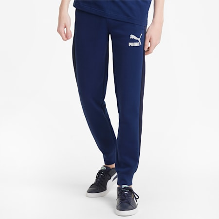 Iconic T7 Double Knit Men's Track Pants, Elektro Blue, small