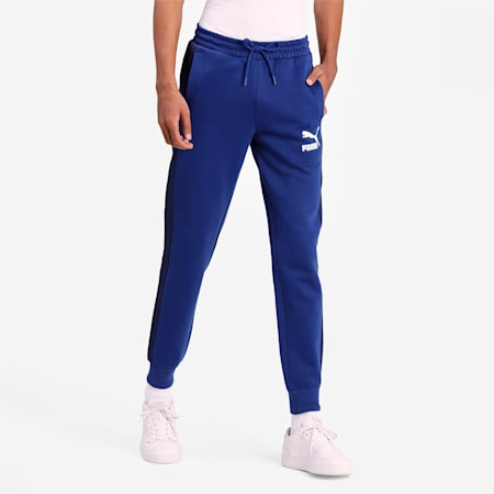 Iconic T7 Double Knit Slim Fit Men's Track Pants, Elektro Blue, small-IND
