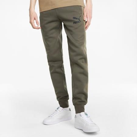 Pantalon de survêtement en maille double Iconic T7 homme, Grape Leaf, small