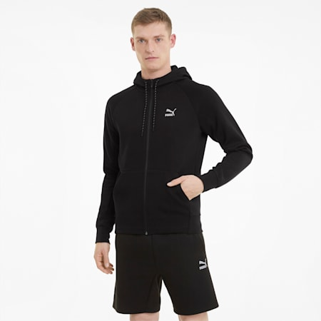 Sweat à capuche Classics Tech Full-Zip homme, Puma Black, small