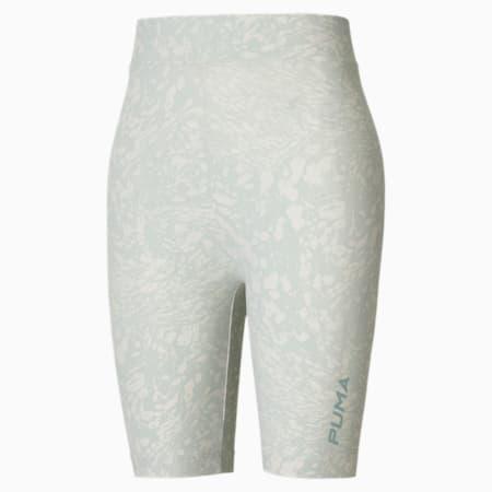 Shorts da ciclismo donna con stampa su tutta la superficie, Sky Gray, small