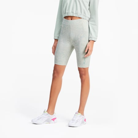 All-Over Printed Women's Cycling Shorts, Sky Gray, small