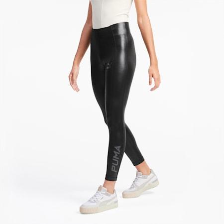 Glänzende Damen Leggings, Puma Black, small