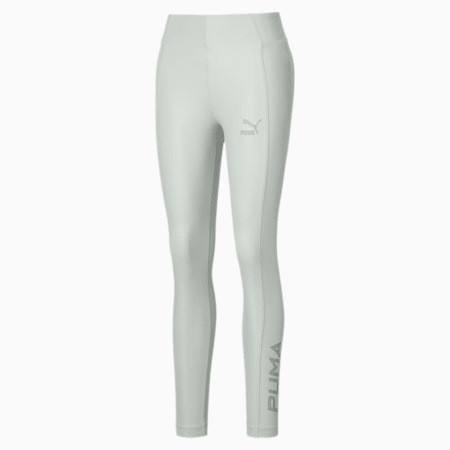 Shiny Women's Leggings, Sky Gray, small