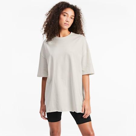T-shirt oversize donna, Vaporous Gray, small