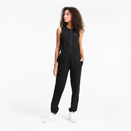 Sleeveless Women's Jumpsuit, Puma Black, small