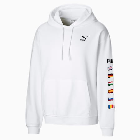 Flag Graphic Herren Hoodie, Puma White, small