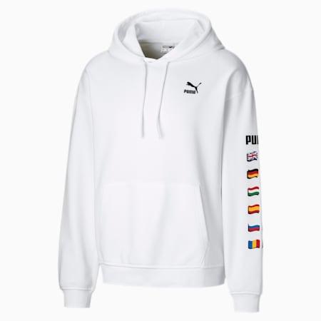 Męska bluza z kapturem Flag Graphic, Puma White, small