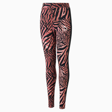 Classics T7 Jugend Leggings mit All-over-Print, Apricot Blush, small