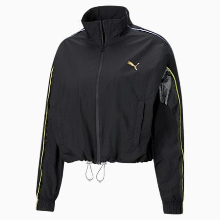 Evide Womens' Track Jacket, Puma Black, small-GBR