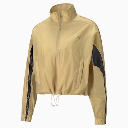 Evide Womens' Track Jacket, Puma Team Gold, small-GBR