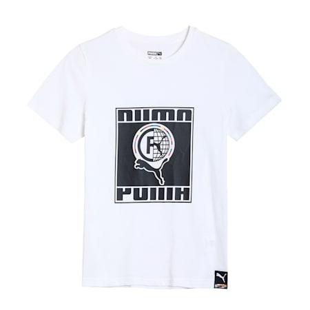 PUMA International Kid's   T-shirt, Puma White, small-IND