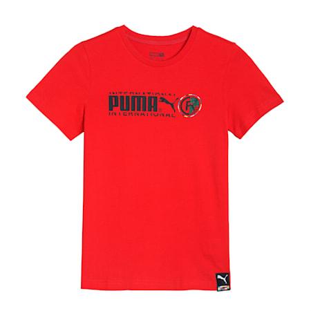 PUMA International Kid's   T-shirt, High Risk Red, small-IND