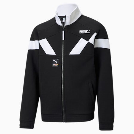 INTL Game Boys' Track Jacket, Puma Black, small