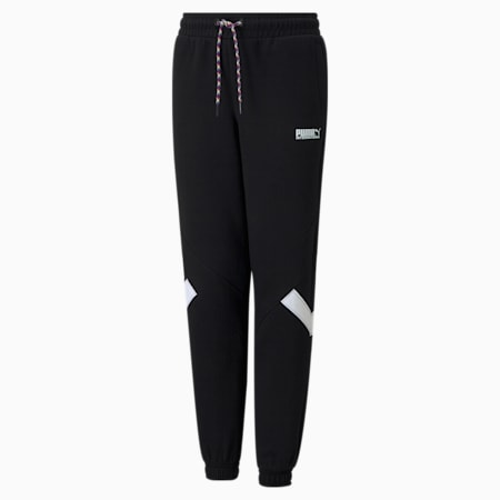 PUMA International Youth Track Pants, Puma Black, small-SEA