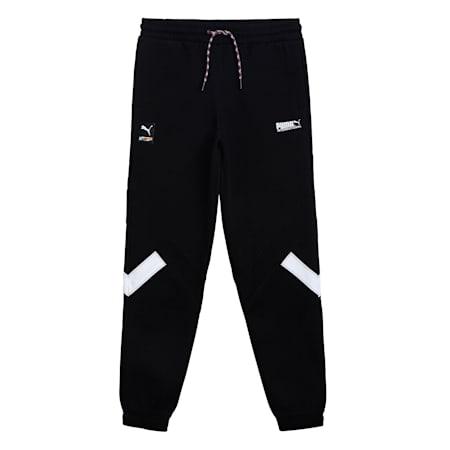 PUMA International Youth Track Pants, Puma Black, small-IND