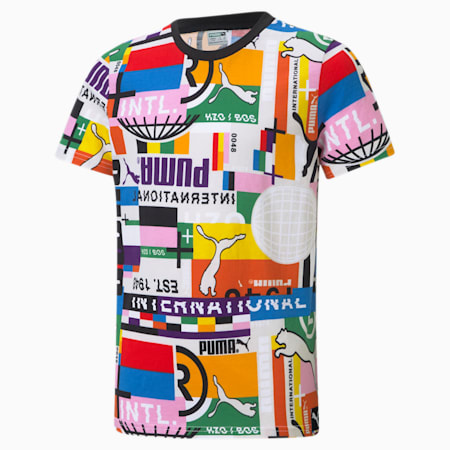 Camiseta estampada PUMA International juvenil, Puma White-game, small