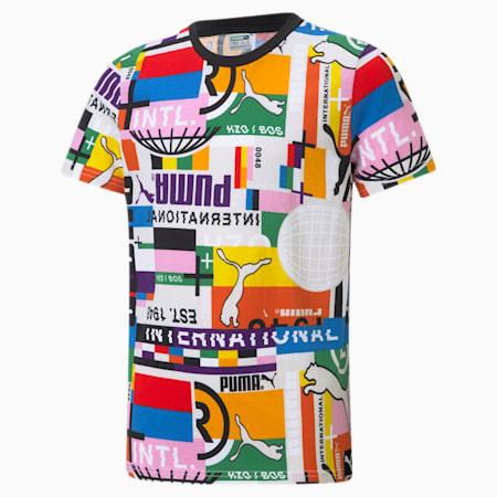 PUMA International T-shirt met print jongeren, Puma White-game, small