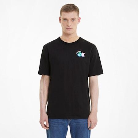 Downtown Graphic T-shirt heren, Puma Black, small