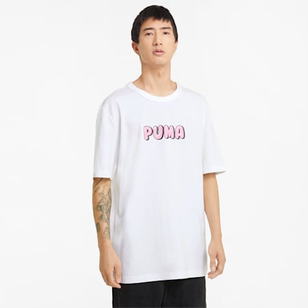 T-shirt Downtown Graphic uomo, Puma White, small