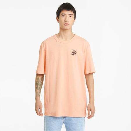 Downtown Graphic Men's Tee, Apricot Blush, small-SEA