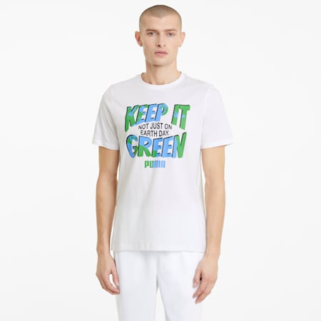 Camiseta gráfica para hombre Key Moments, Puma White, small