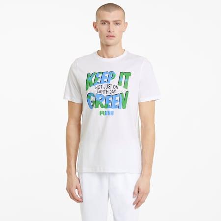 Męski T-shirt Key Moments z grafiką, Puma White, small