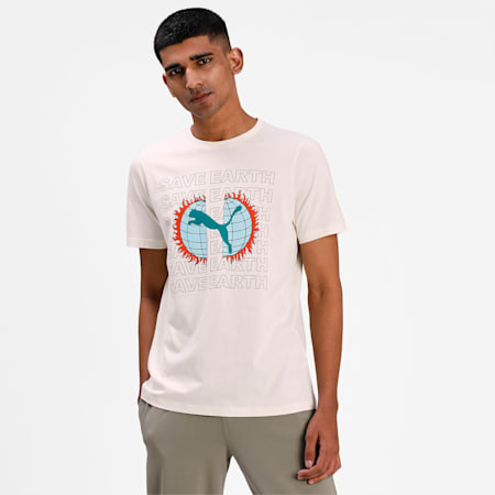 Camiseta estampada Key Momentspara hombre, Eggnog, pequeño