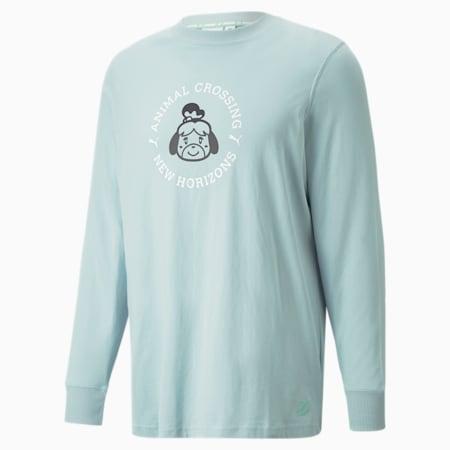 PUMA x Animal Crossing™: New Horizons Men's Long Sleeves Loose T-Shirt, Light Sky, small-IND